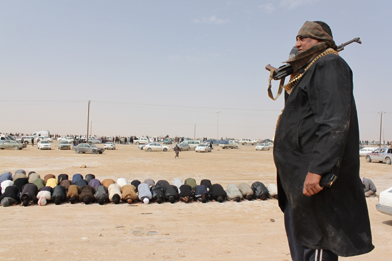 Libyan rebels gathered in Ajdabiya, March 2011. Credit: Al Jazeera English