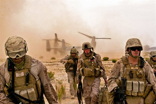 Troops landing