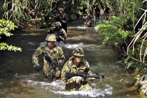 US Marines training in Okinawa, Japan