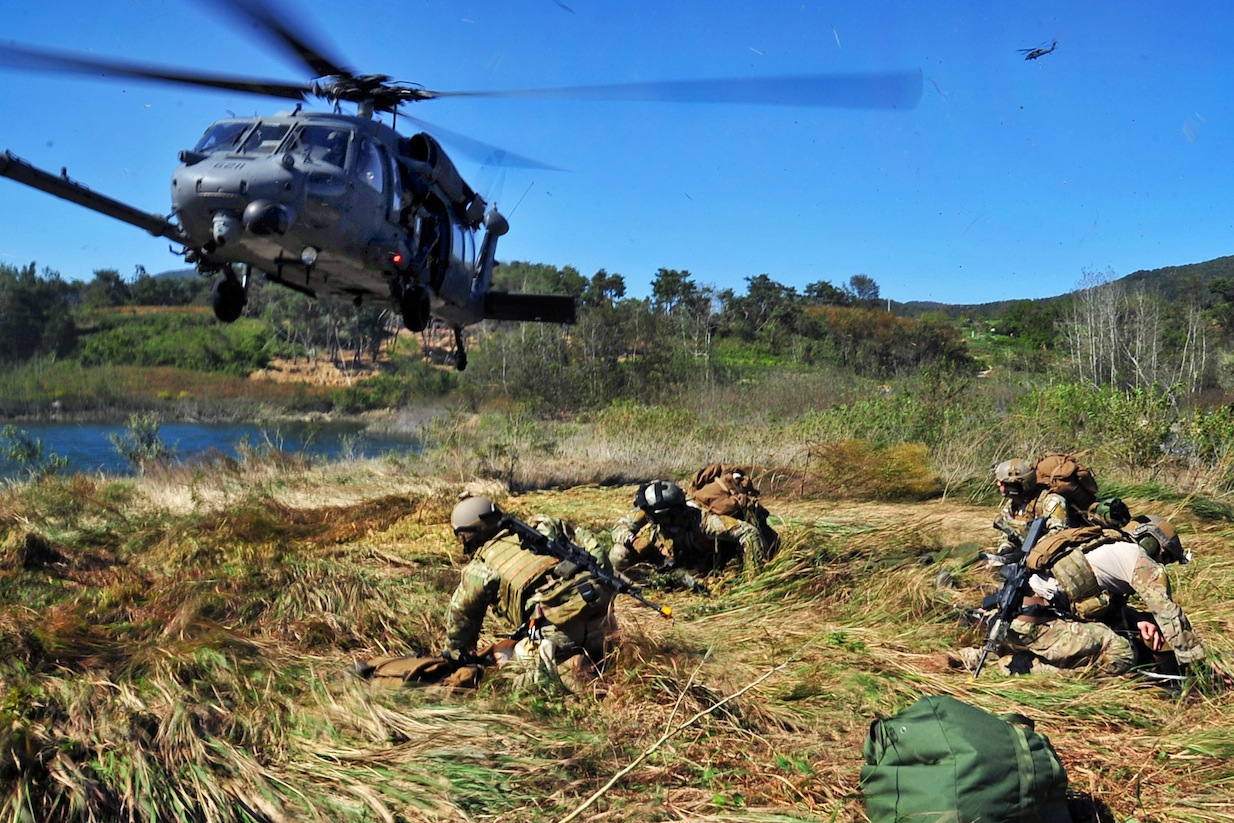 US Air Force conducting military exercises in South Korea. Credit: Defense Dept.