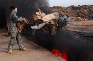 Ah, the burn pits, again. Photo credit: Department of Defense