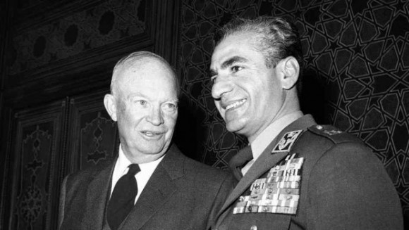 President Eisenhower with the Shah of Iran, who came to power as a result of a US-led coup