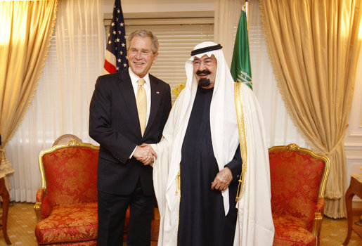 Meeting with the King of Saudi Arabia.