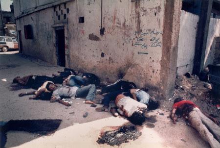 Palestinian corpses at Shatila