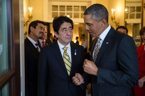 President Obama with Japanese Prime Minister Shinzo Abe