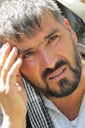 Abdul Fatah, a refugee from Kunduz, in Kabul