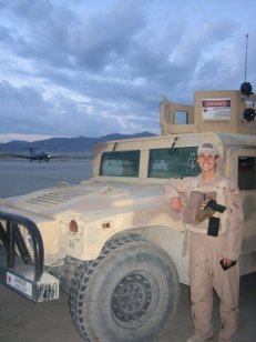 Former Air Force officer Jessica Pavoni in Afghanistan
